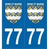Stickers autocollants Blason 77