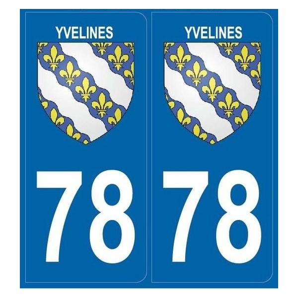 Autocollants plaque Dept. 78