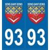 Stickers Blason Seine-Saint-Denis