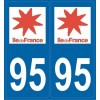 Stickers immatriculation 95