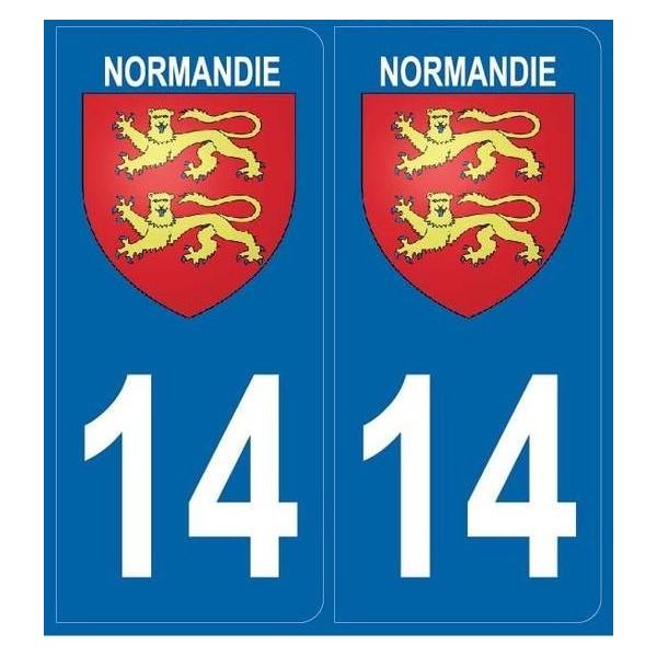 2 stickers régions 14 Normandie