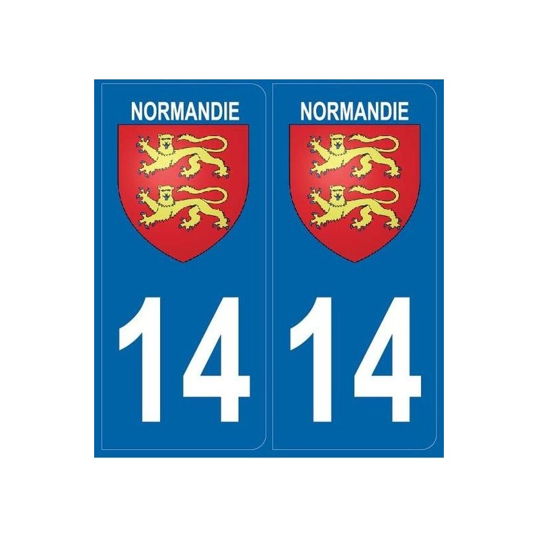 Autocollants immatriculation Calvados 14