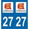 2 stickers régions département 27