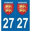2 stickers régions 27 Normandie