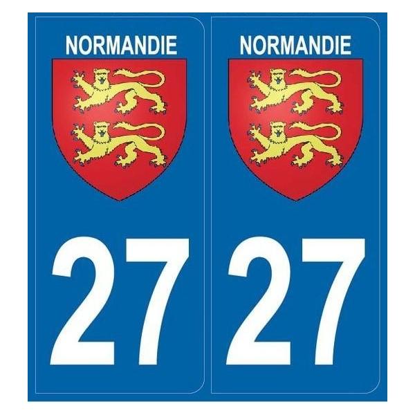 Autocollants immatriculation 27 Normandie