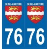 Stickers plaque blason Seine Maritime