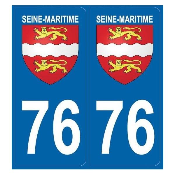 Autocollants immatriculation Seine Maritime