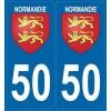 Autocollants de plaques Normandie