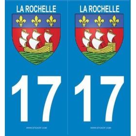 2 stickers city 17 La Rochelle