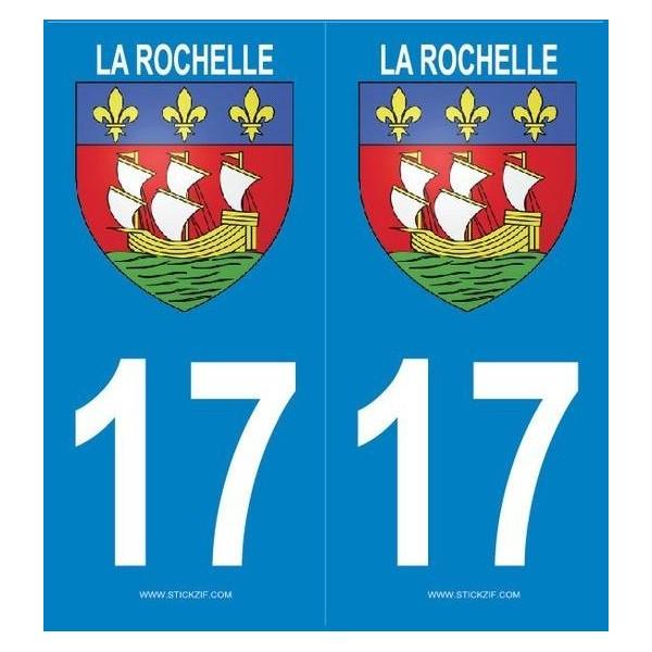 Autocollants Plaque Blason la Rochelle