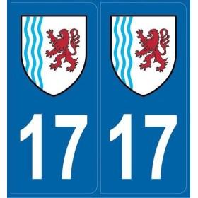 2 stickers régions département 17