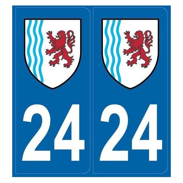 2 stickers régions département 24