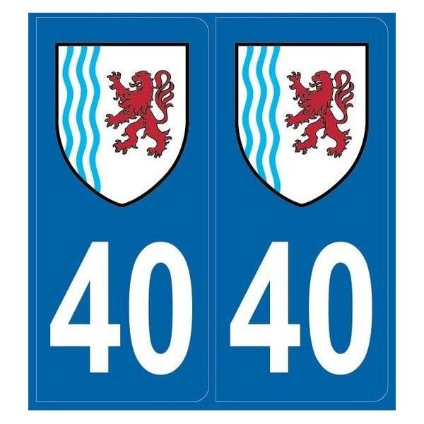 Autocollants immatriculation Landes (40)