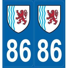 Stickers immatriculation Vienne (86)