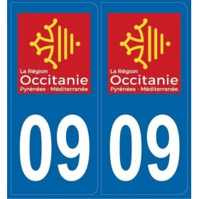 Autocollants immatriculation Dept. 09
