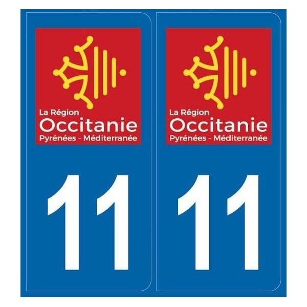 2 stickers régions département 11