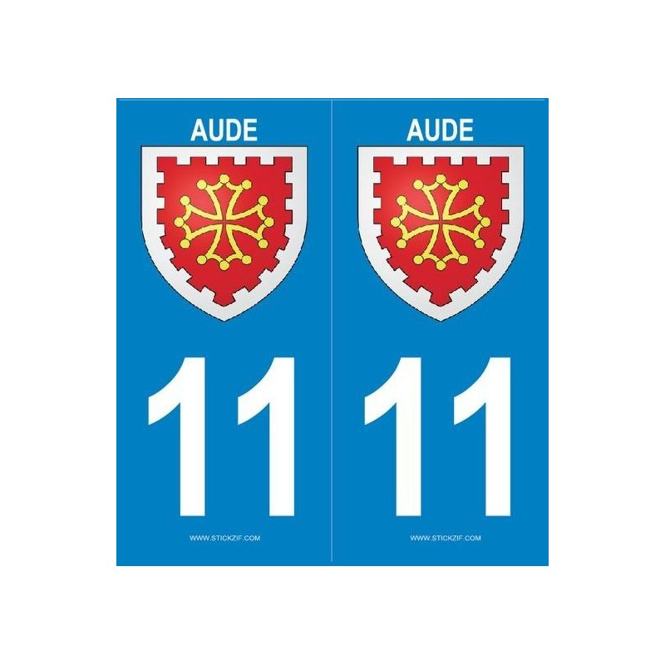 2 stickers régions 11 Aude