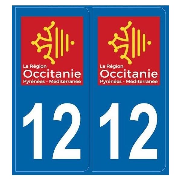 2 stickers régions département 12