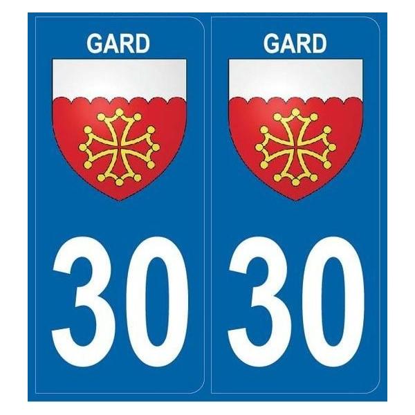 Autocollants immatriculation Blason du Gard