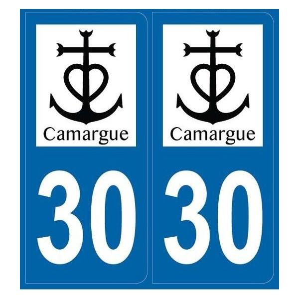 Autocollants immatriculation Blason Camargue