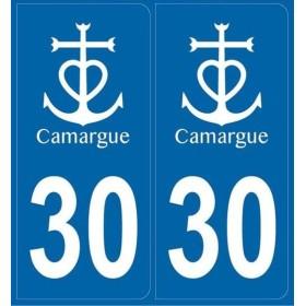 Autocollants immatriculation Camargue (30)