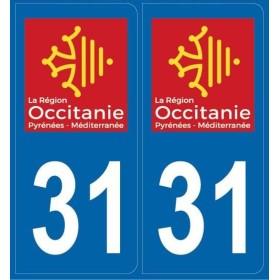 Autocollants immatriculation département 31