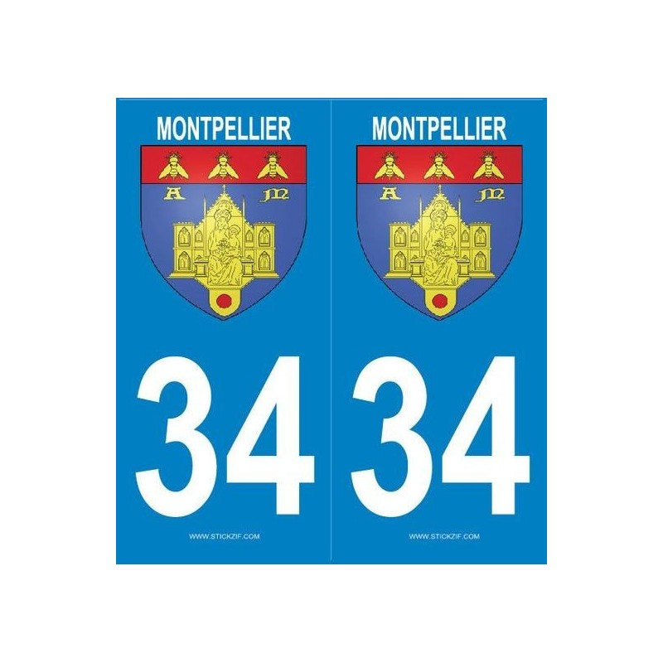 Autocollants Plaques Blason Montpellier