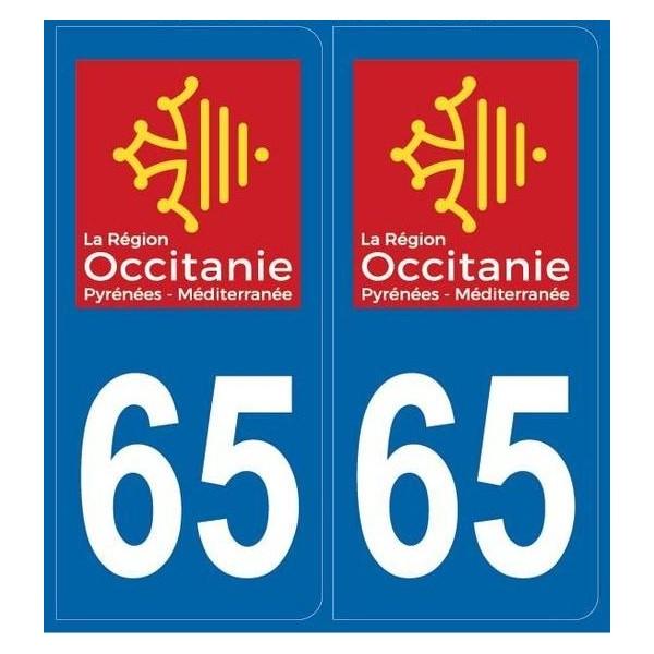 Autocollants immatriculation Dept. 65