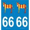 Autocollants immatriculation âne catalan