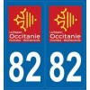 Autocollants immatriculation Tarn-et-Garonne