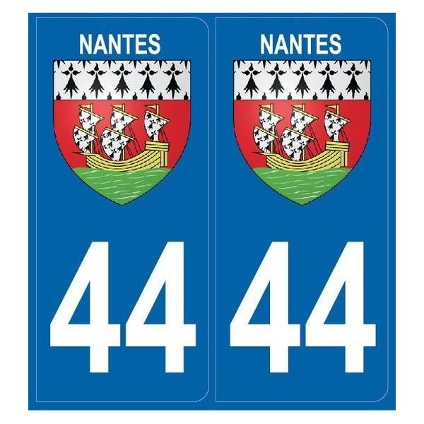 Autocollants immatriculation 44 Nantes