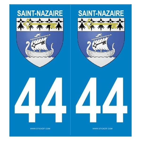 2 stickers city 44 Saint-Nazaire