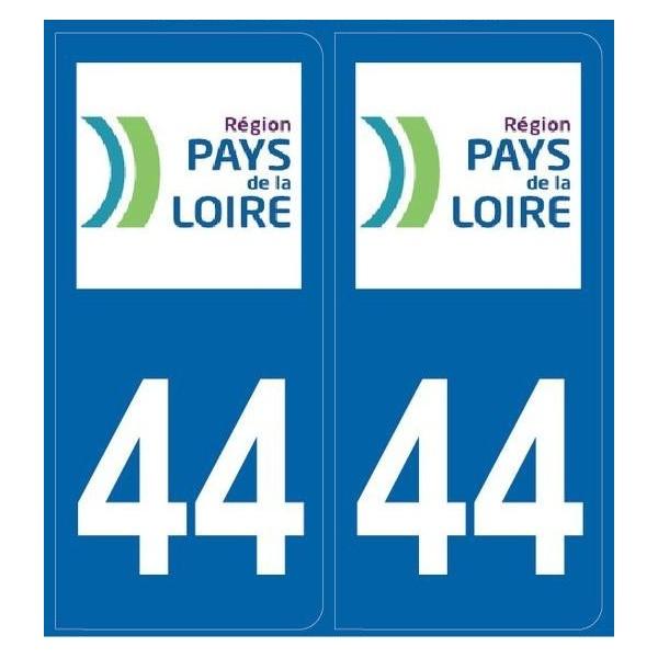 Autocollants Plaques Loire Atlantique