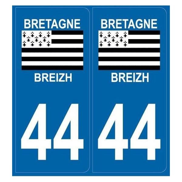 Autocollants Plaques Bretagne / Breizh