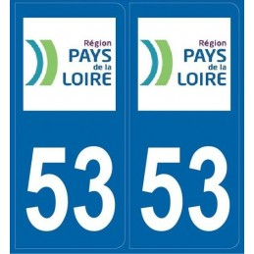 Autocollants immatriculation Mayenne