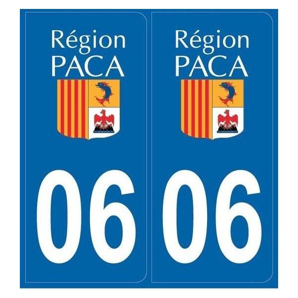 2 stickers régions département 06