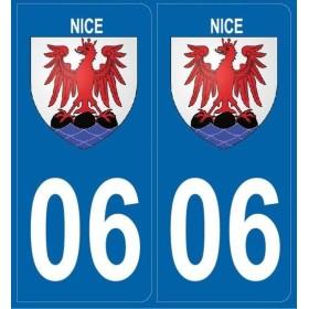 Autocollants Plaques Blason Nice 06