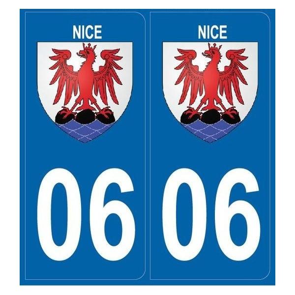 2 stickers city 06 Nice