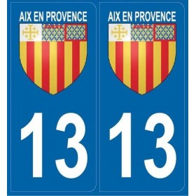 2 stickers city 13 Aix-en-Provence