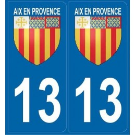 Autocollants immatriculation Blason Aix (13)