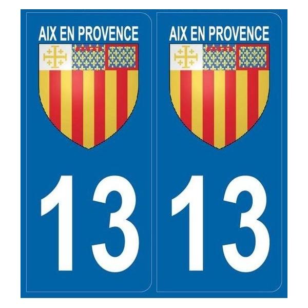 2 stickers city 13 Aix-en-Provence