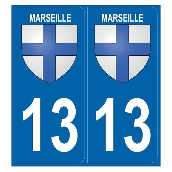 Autocollants Plaques Blason Marseille