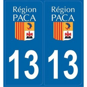Autocollants immatriculation Dept. 13