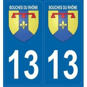 Autocollants Plaques Bouches-du-Rhône