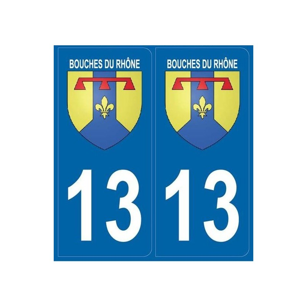 2 stickers régions 13 Bouches-du-Rhône