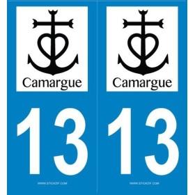 Autocollants Plaques Camargue Noir