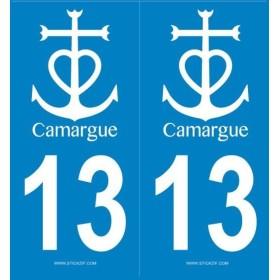 Autocollants Plaque Camargue Blanc