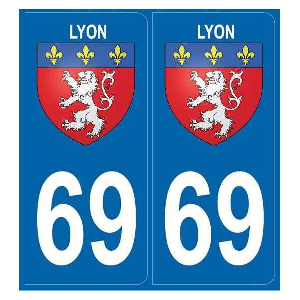 Stickers plaque ville Lyon 69