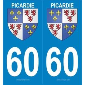 Autocollants Blason Picardie