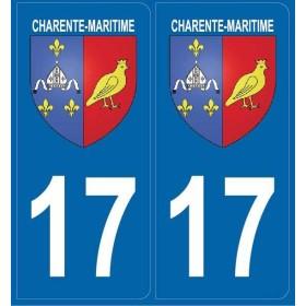 2 stickers régions 17 Charente-Maritime